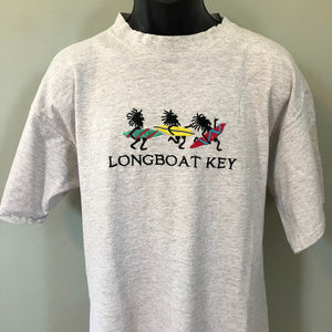 90s Longboat Key Florida Shirt Surfer Surfing Surf